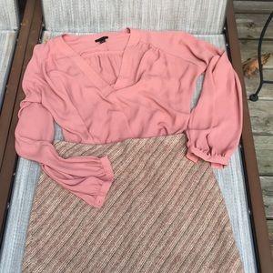 Aline silk/wool blend skirt